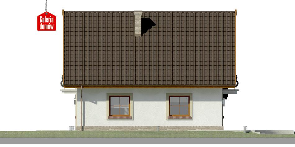 Dom przy Oliwkowej 2 - elewacja lewa