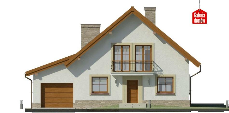 Dom przy Oliwkowej 3 H - elewacja frontowa