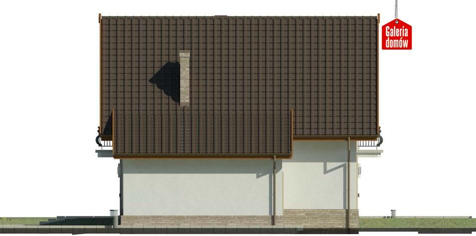 Dom przy Oliwkowej 3 H - elewacja prawa