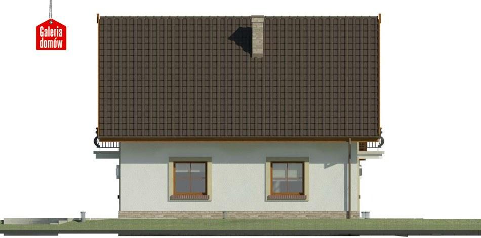 Dom przy Oliwkowej 3 H - elewacja lewa