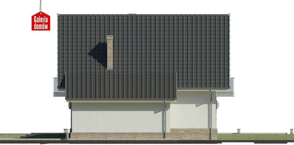 Dom przy Oliwkowej 3 N - elewacja prawa