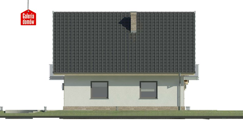 Dom przy Oliwkowej 3 N - elewacja lewa