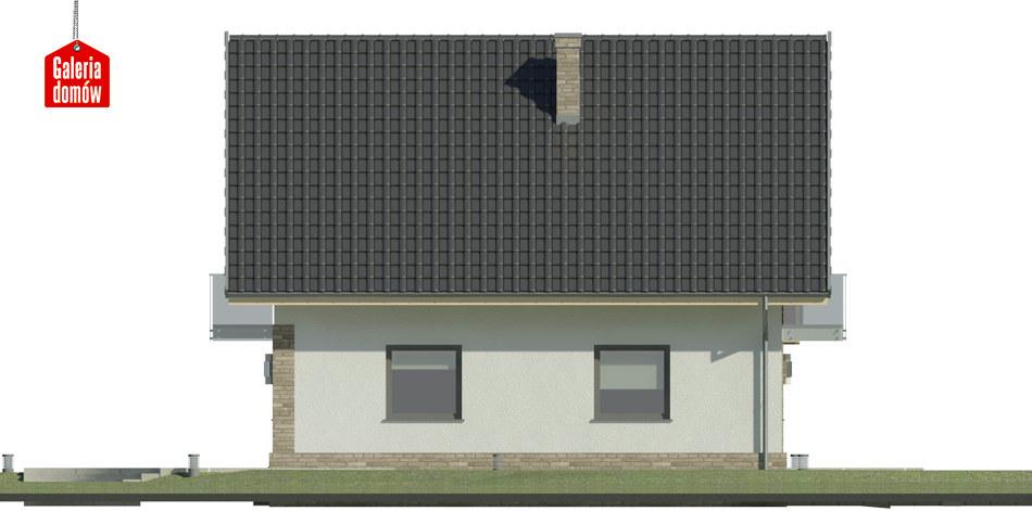 Dom przy Oliwkowej 3 NH - elewacja lewa