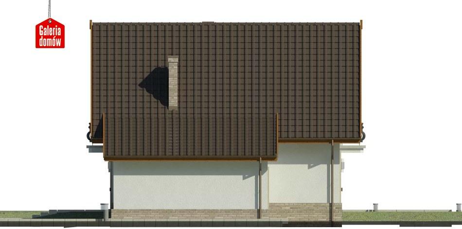 Dom przy Oliwkowej 3 - elewacja prawa