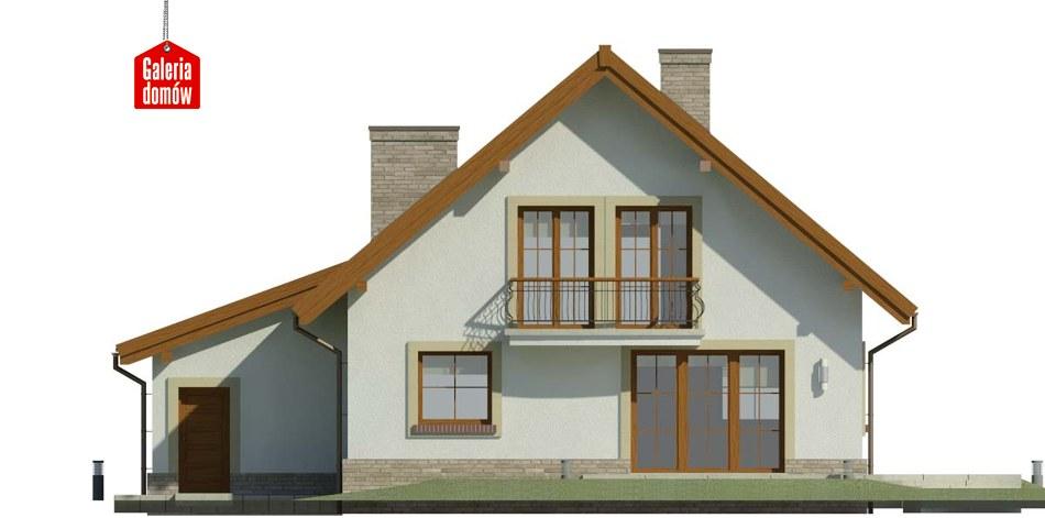 Dom przy Oliwkowej 3 - elewacja tylna
