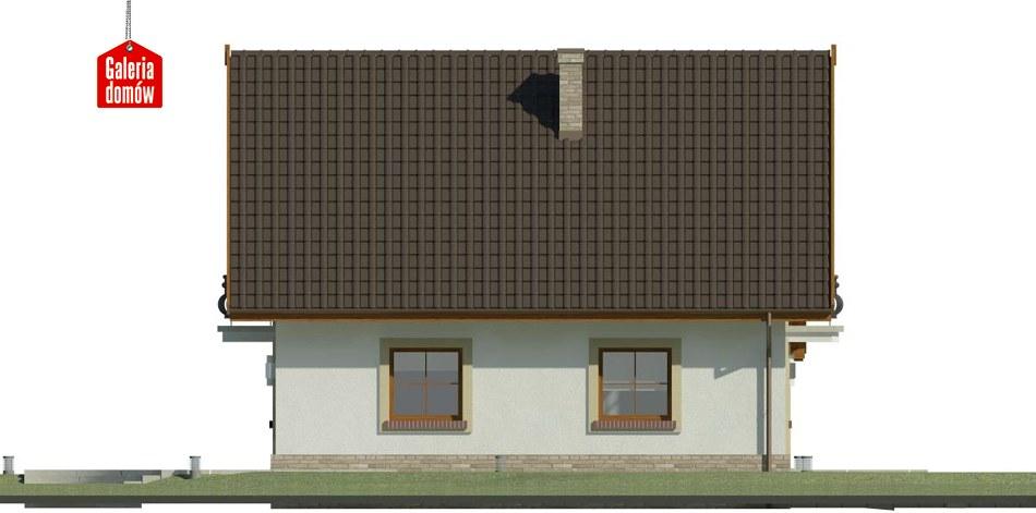 Dom przy Oliwkowej 3 - elewacja lewa