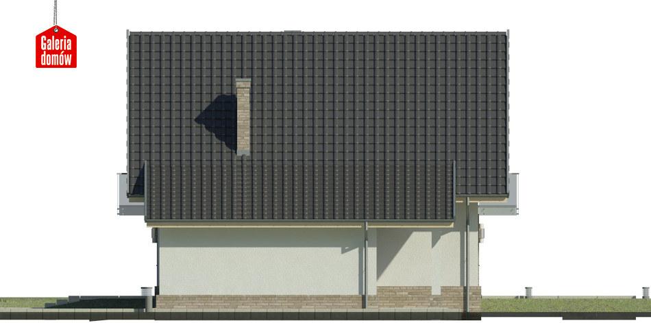 Dom przy Oliwkowej 4 N - elewacja prawa