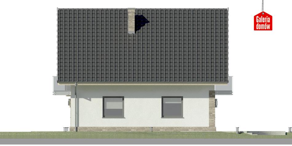 Dom przy Oliwkowej 4 NH - elewacja lewa