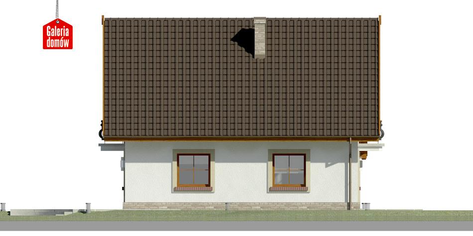Dom przy Oliwkowej 4 - elewacja lewa