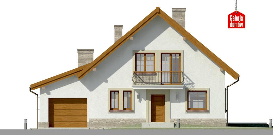 Dom przy Oliwkowej 5 H - elewacja frontowa