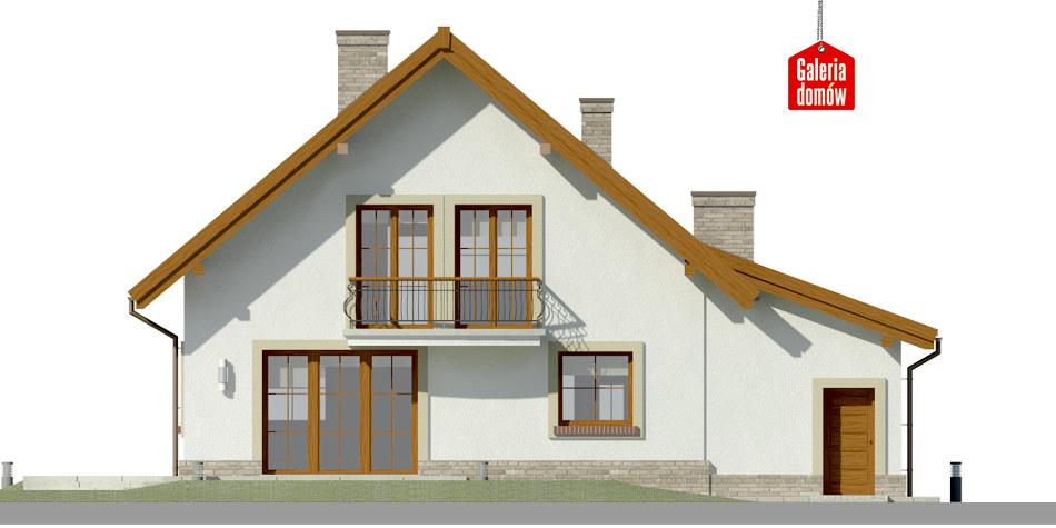 Dom przy Oliwkowej 5 H - elewacja tylna