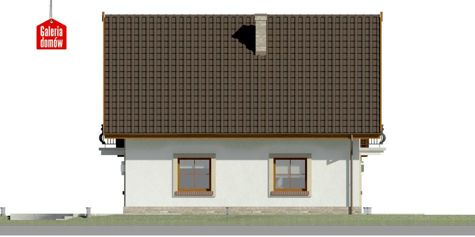 Dom przy Oliwkowej 5 H - elewacja lewa
