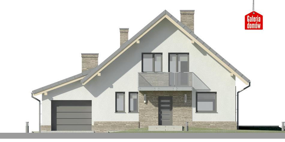 Dom przy Oliwkowej 5 N - elewacja frontowa