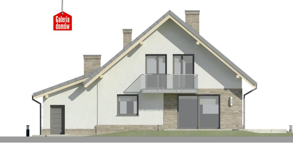 Dom przy Oliwkowej 5 N - elewacja tylna