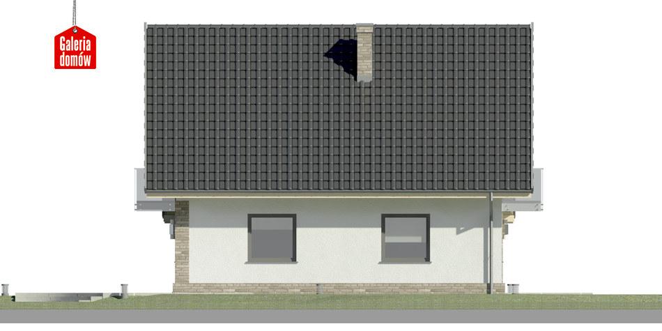 Dom przy Oliwkowej 5 N - elewacja lewa
