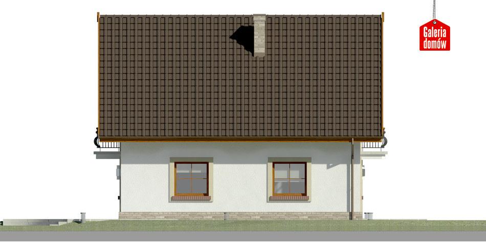Dom przy Oliwkowej H - elewacja lewa