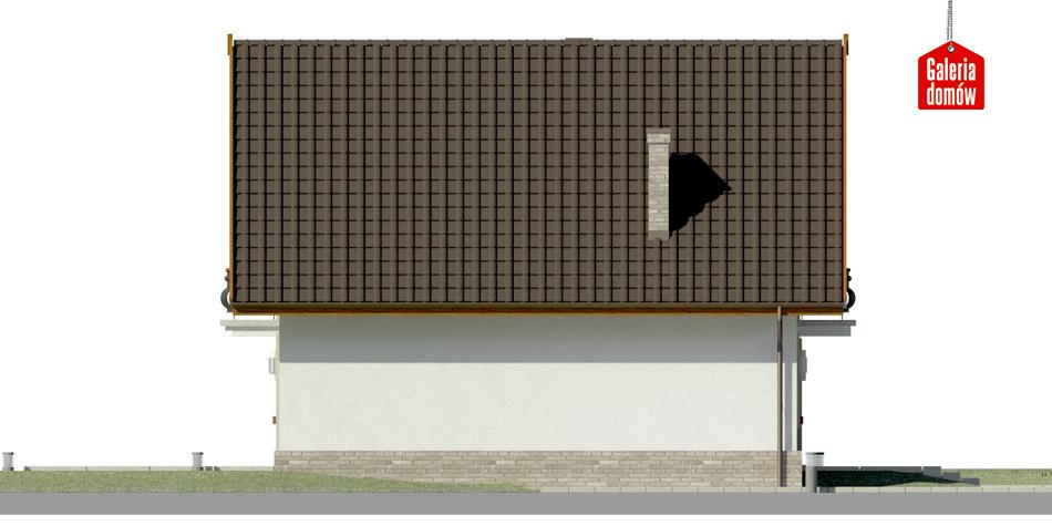 Dom przy Oliwkowej - elewacja prawa
