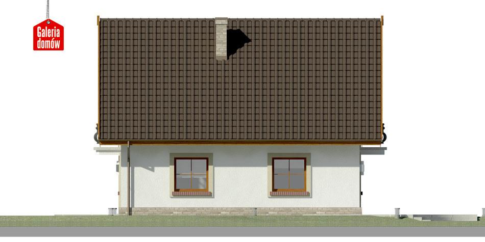 Dom przy Oliwkowej - elewacja lewa