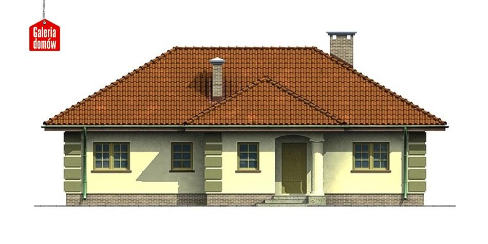 Dom przy Orzechowej - elewacja frontowa