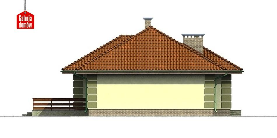 Dom przy Orzechowej - elewacja lewa