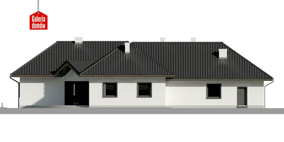 Dom przy Parkowej 2 - elewacja tylna