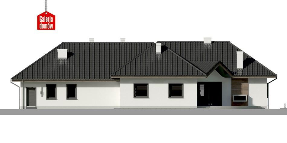 Dom przy Parkowej 3 - elewacja tylna