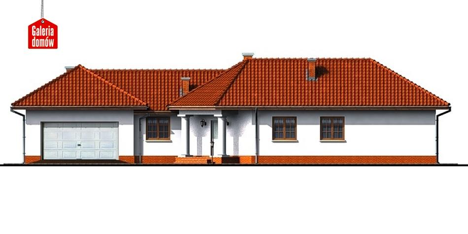 Dom przy Parkowej - elewacja frontowa