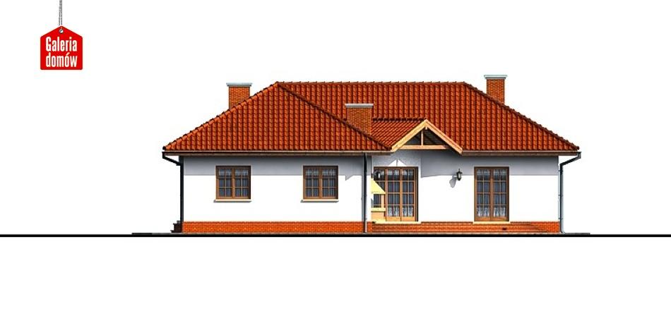 Dom przy Parkowej - elewacja prawa