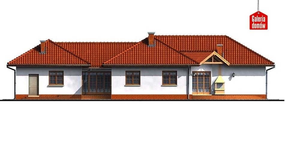 Dom przy Parkowej - elewacja tylna