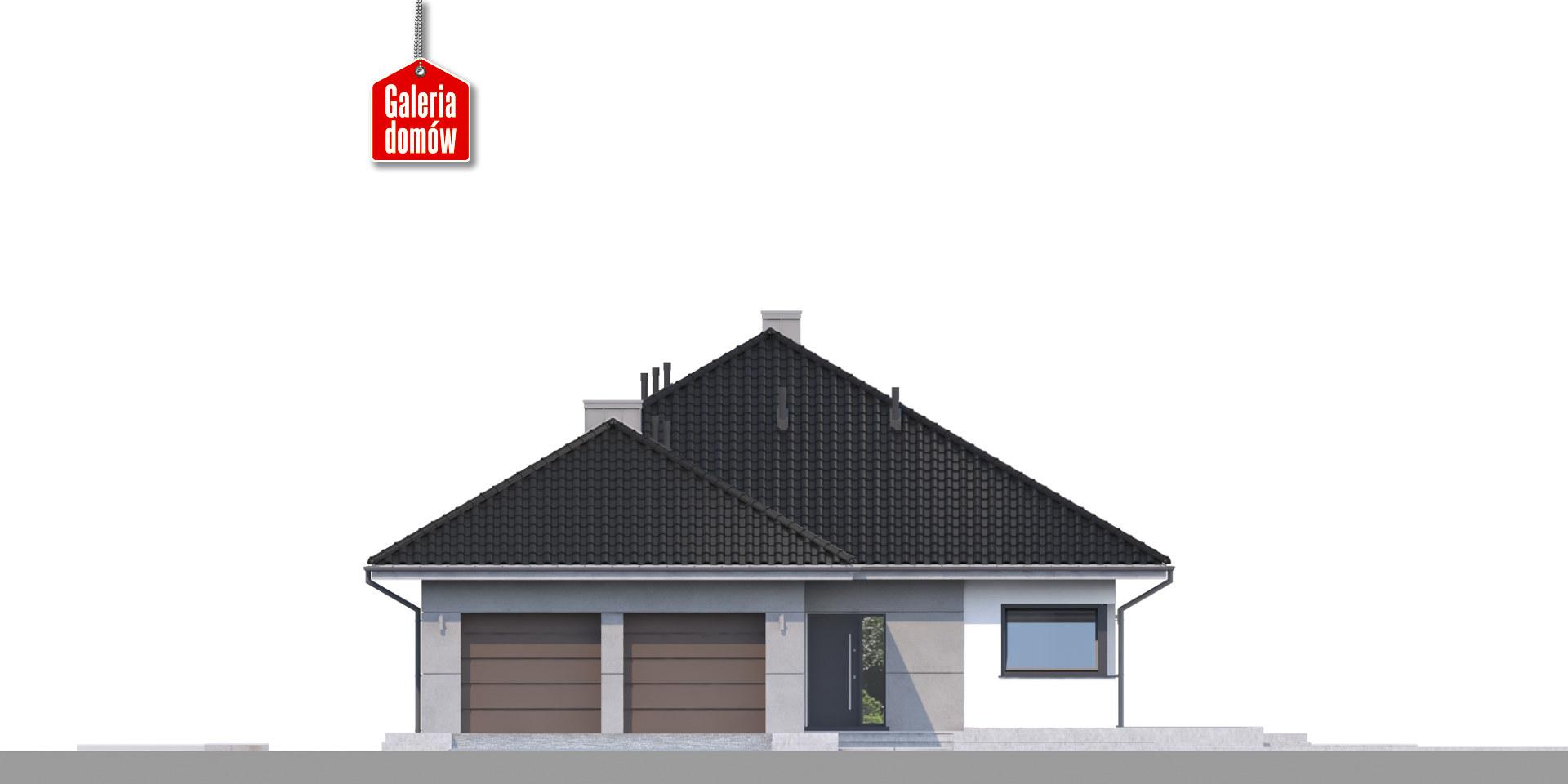 Dom przy Pastelowej 10 bis - elewacja frontowa