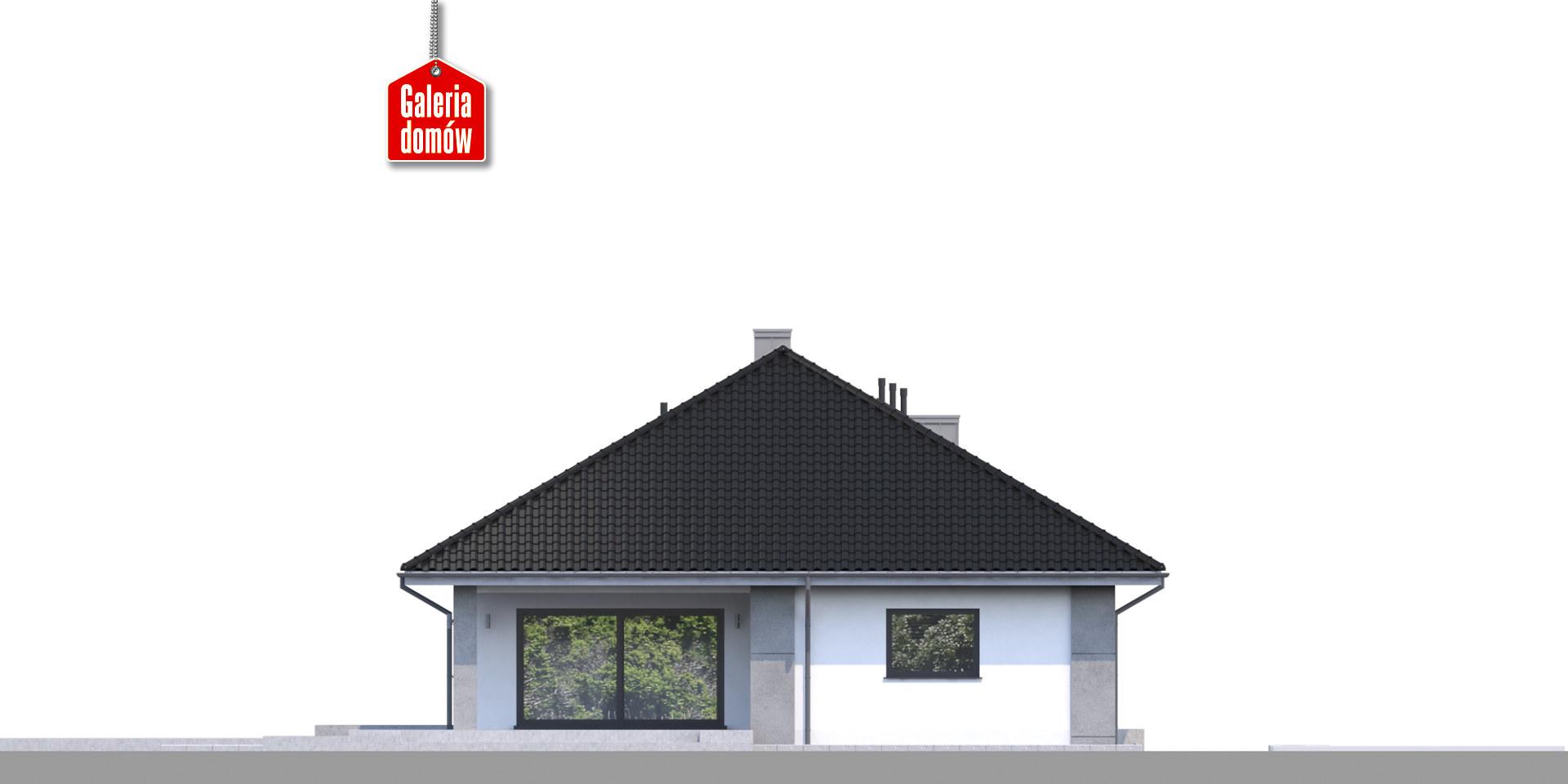 Dom przy Pastelowej 10 bis - elewacja tylna