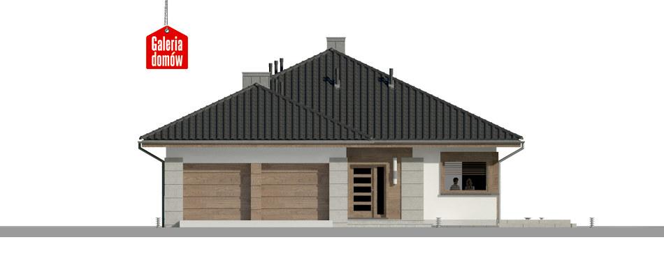 Dom przy Pastelowej 10 - elewacja frontowa