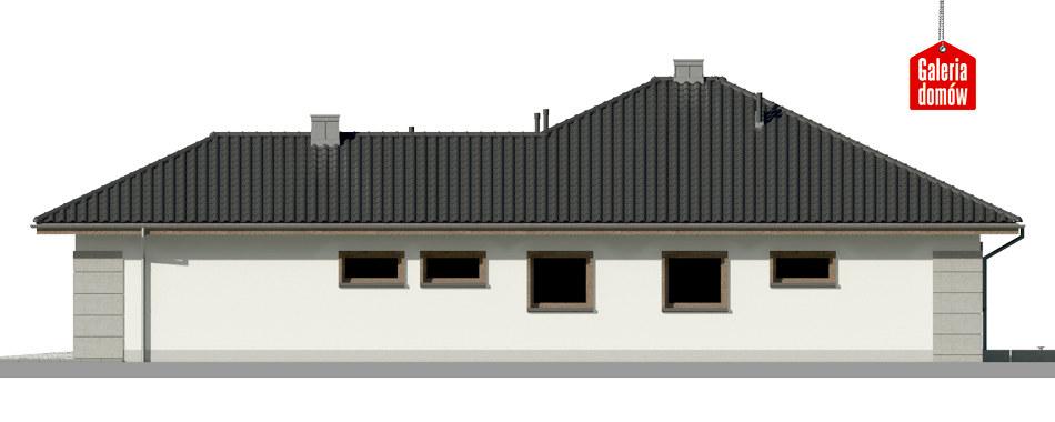 Dom przy Pastelowej 10 - elewacja lewa