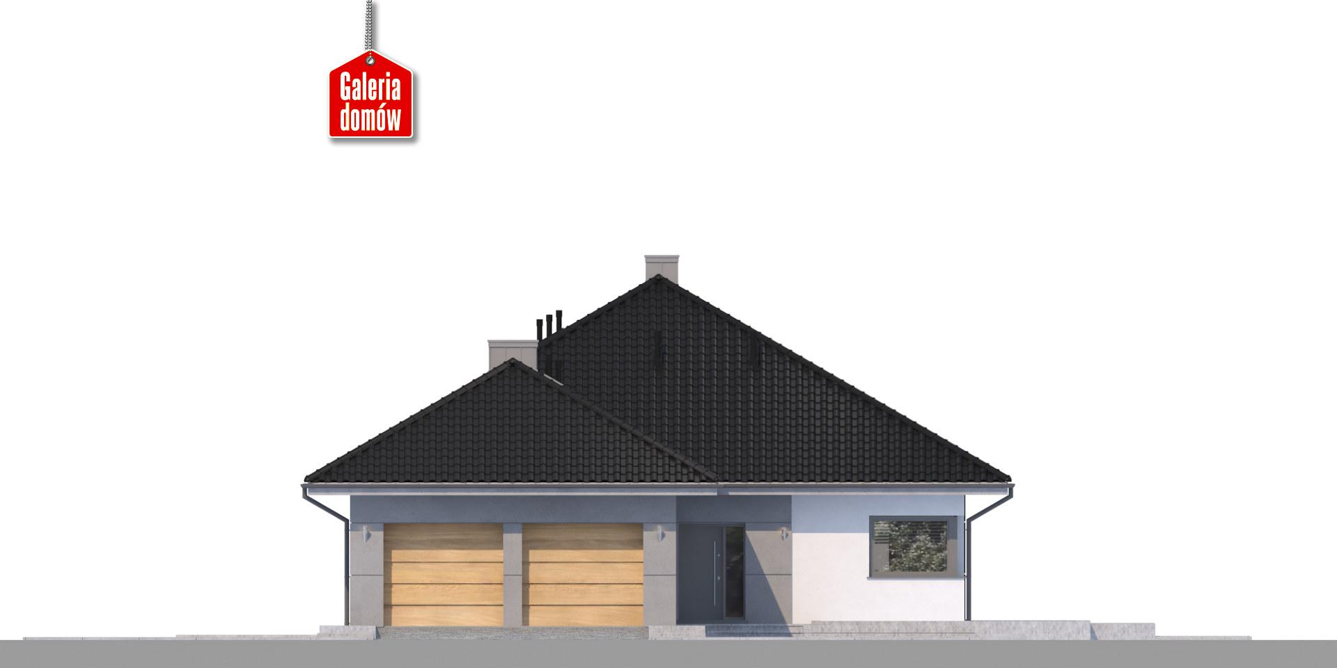 Dom przy Pastelowej 11 bis - elewacja frontowa
