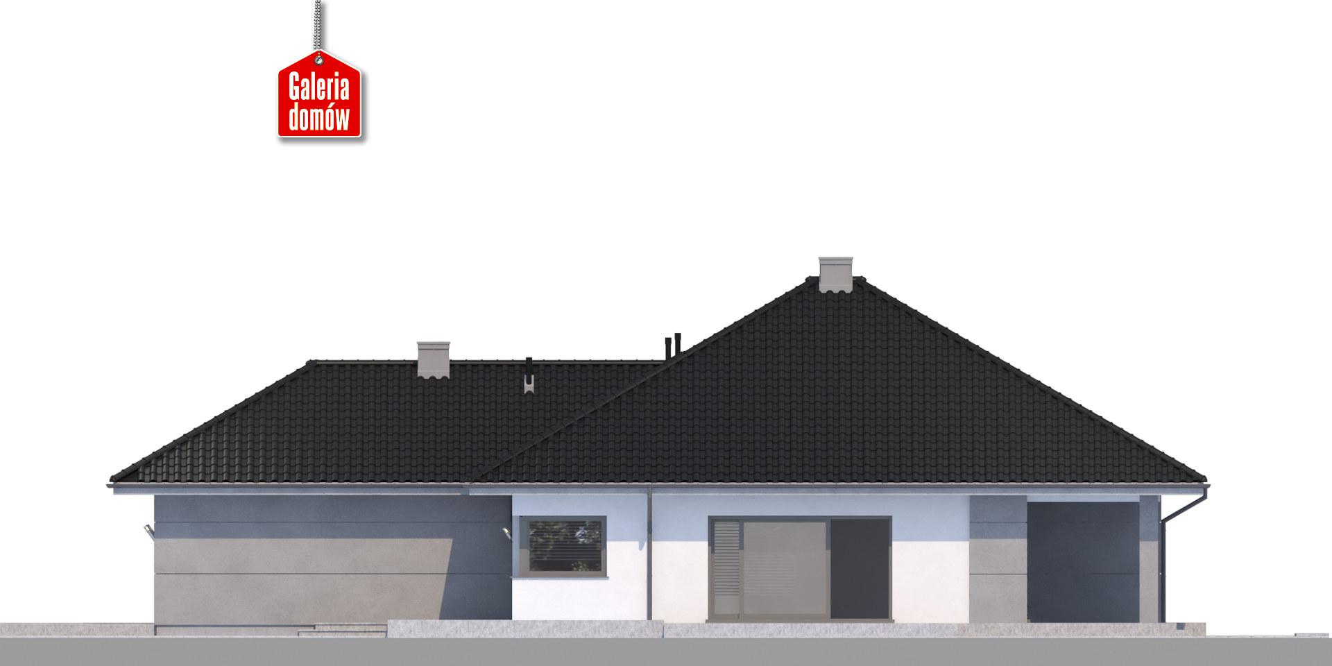 Dom przy Pastelowej 11 bis - elewacja prawa