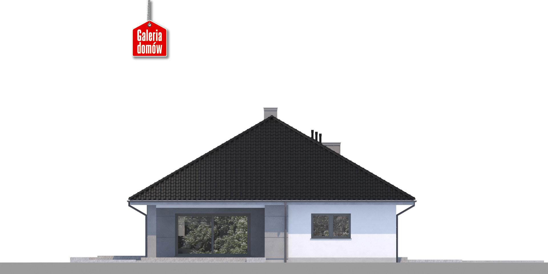Dom przy Pastelowej 11 bis - elewacja tylna