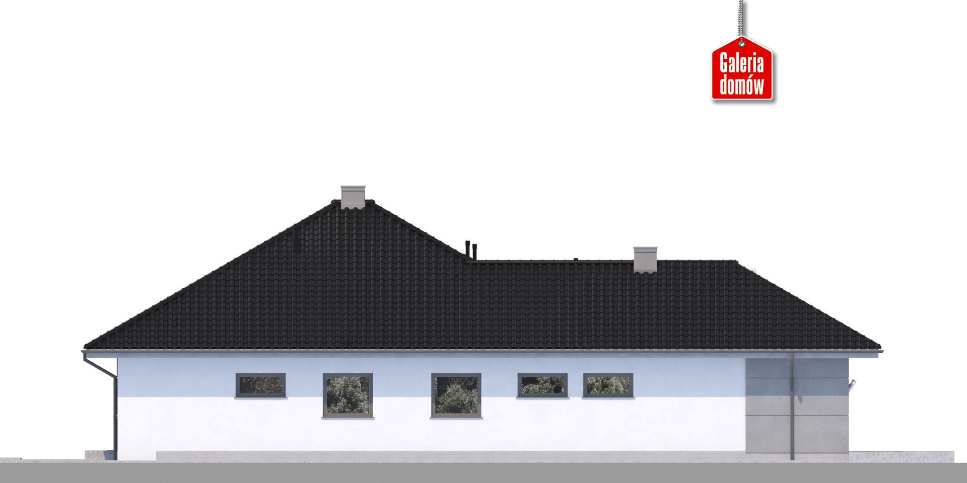 Dom przy Pastelowej 11 bis - elewacja lewa
