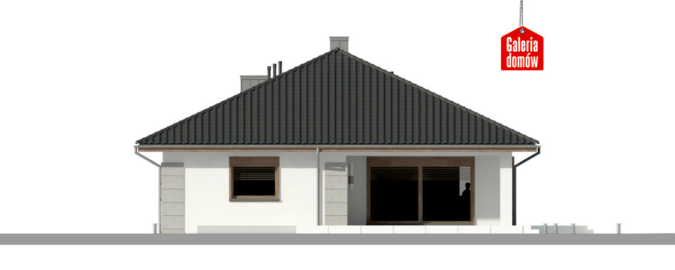 Dom przy Pastelowej 11 - elewacja tylna