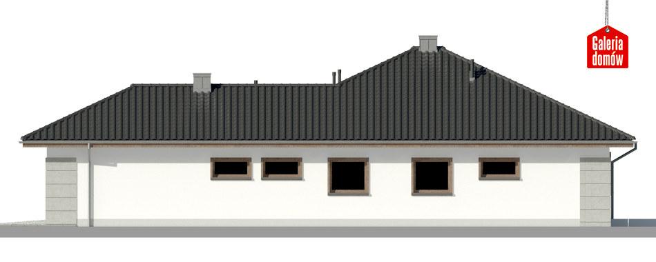 Dom przy Pastelowej 11 - elewacja lewa