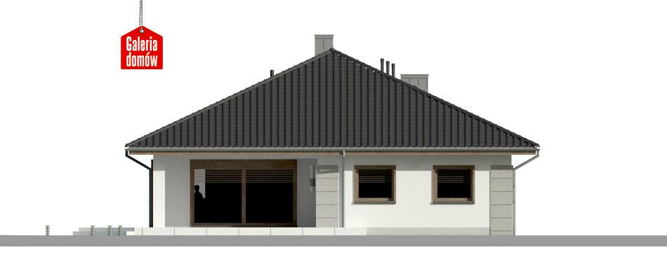 Dom przy Pastelowej 12 - elewacja tylna