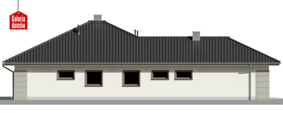 Dom przy Pastelowej 12 - elewacja lewa