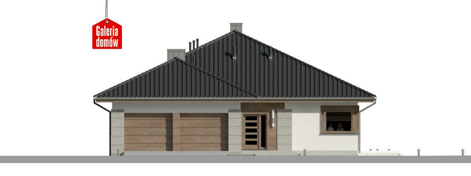 Dom przy Pastelowej 14 - elewacja frontowa