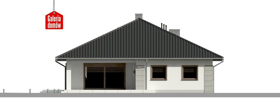Dom przy Pastelowej 14 - elewacja tylna
