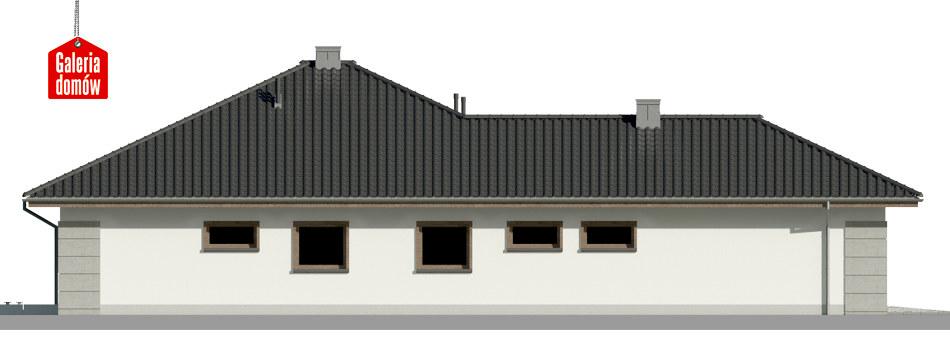 Dom przy Pastelowej 14 - elewacja lewa