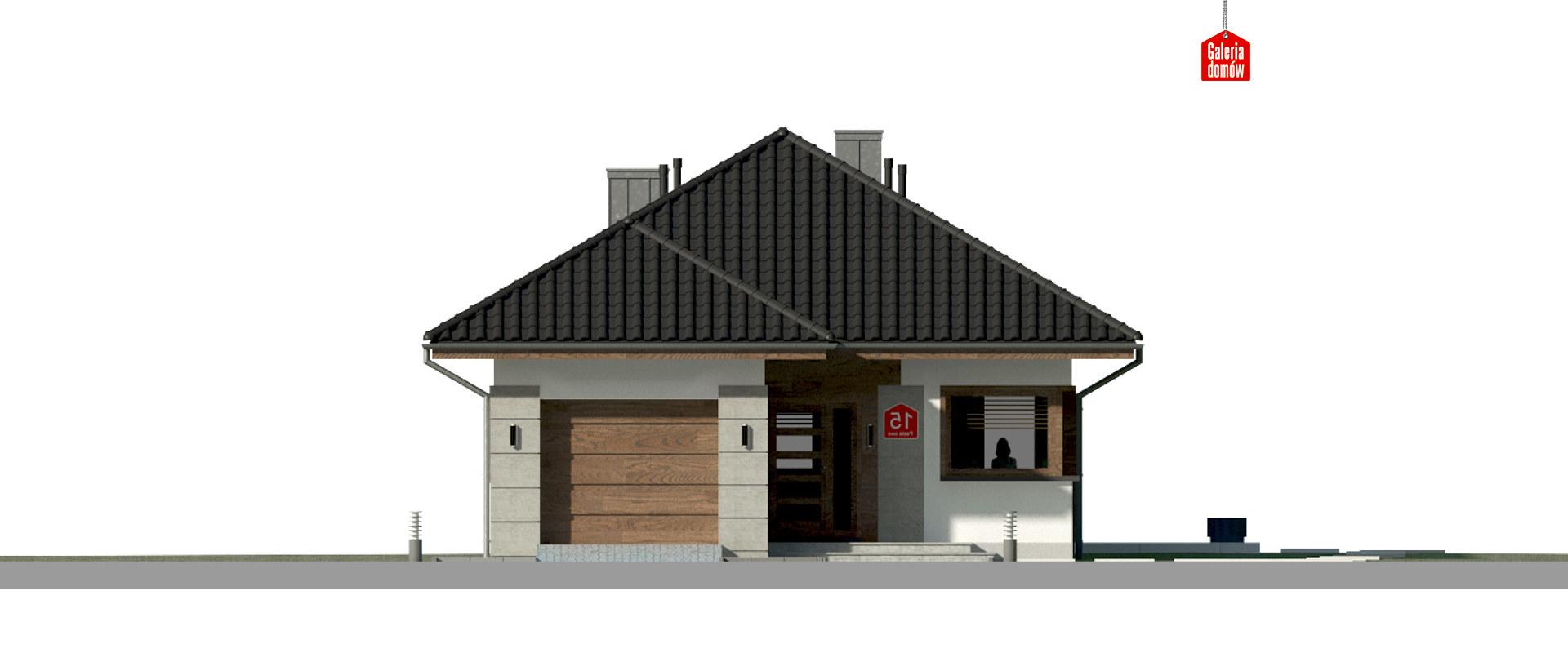 Dom przy Pastelowej 15 bis - elewacja frontowa