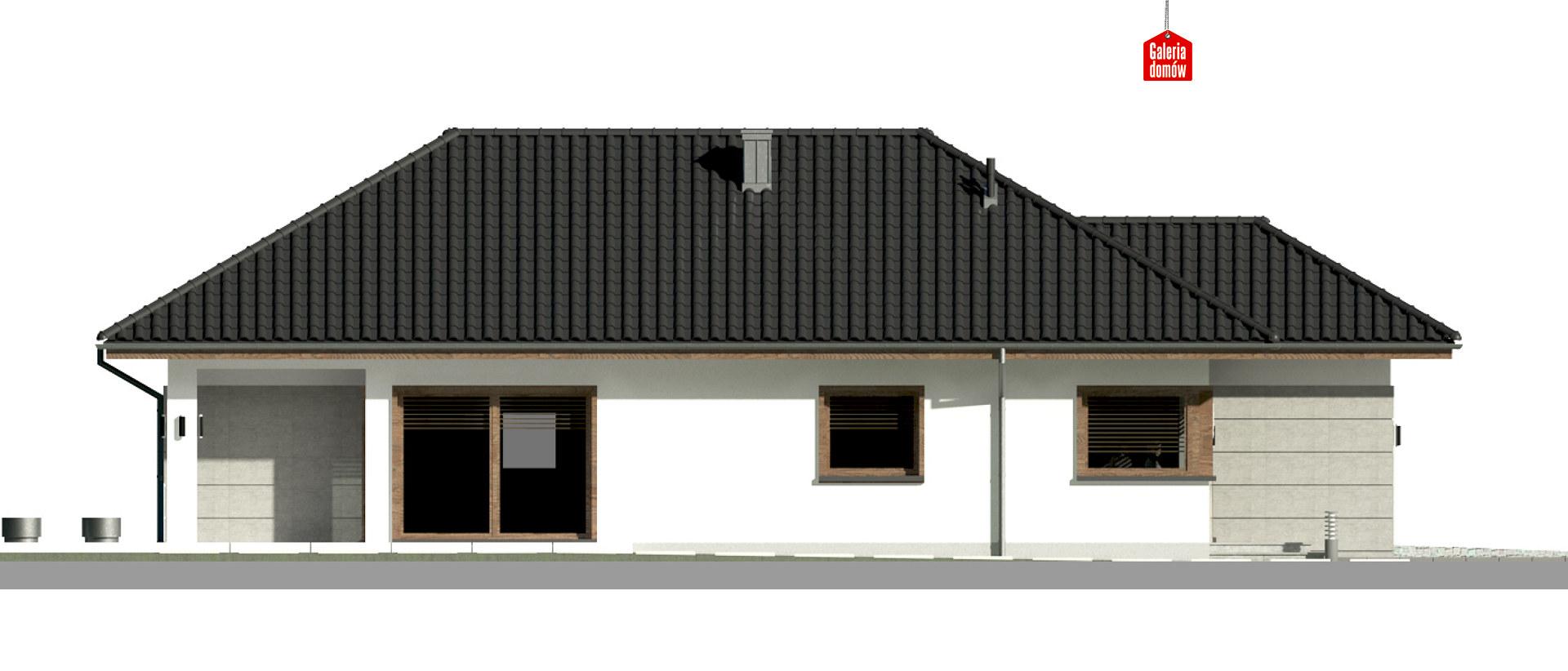 Dom przy Pastelowej 15 bis - elewacja lewa