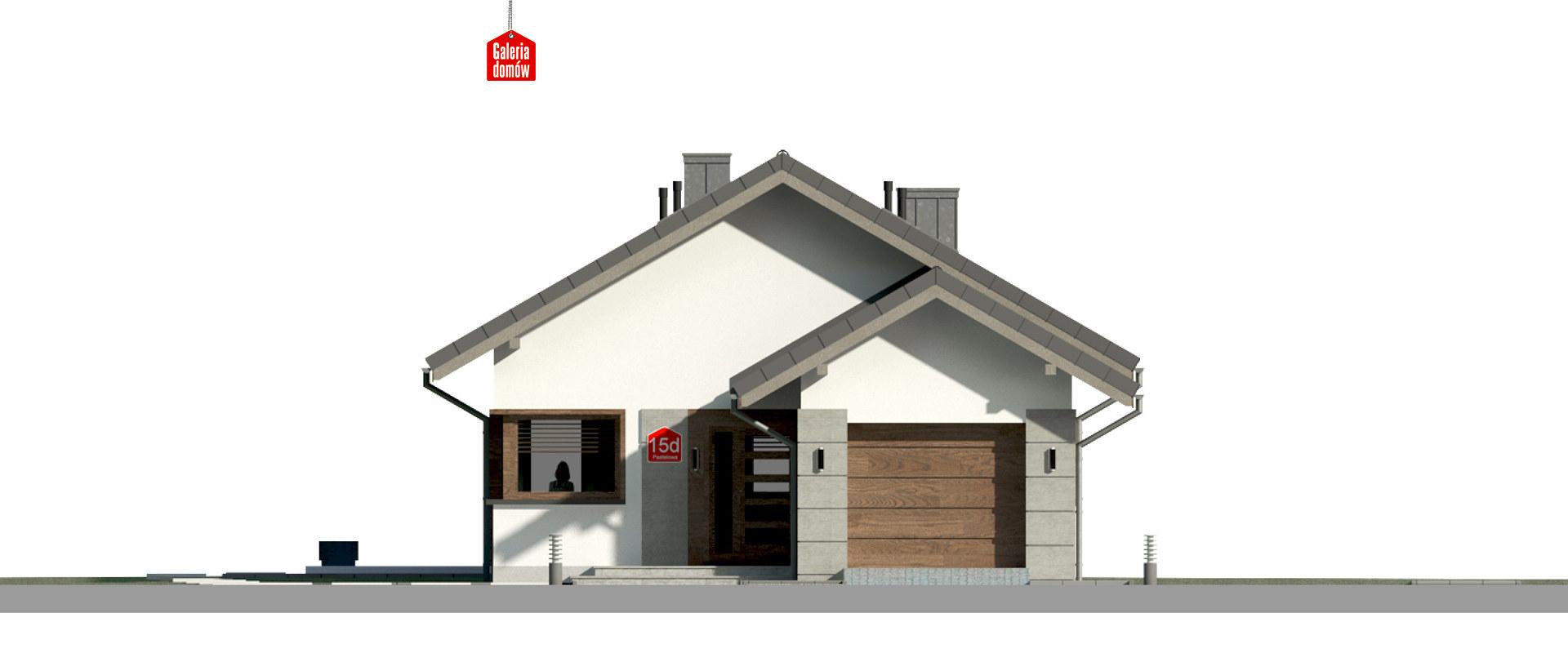 Dom przy Pastelowej 15 D bis - elewacja frontowa