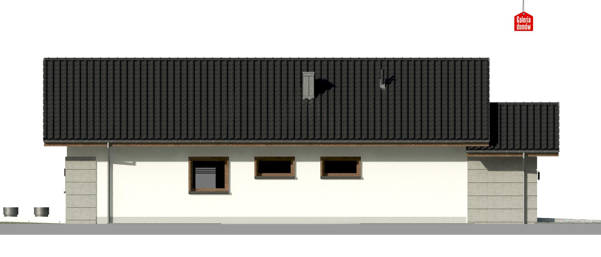 Dom przy Pastelowej 15 D bis - elewacja prawa