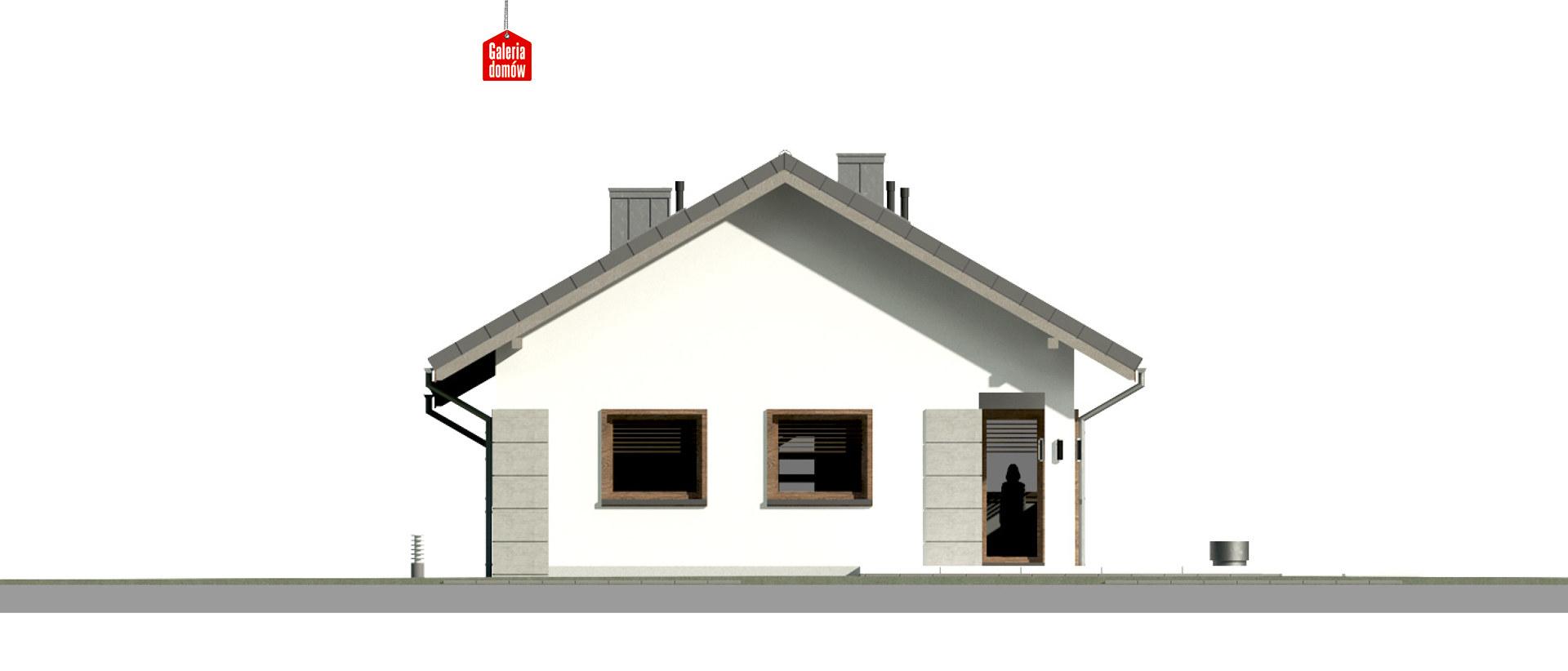 Dom przy Pastelowej 15 D bis - elewacja tylna