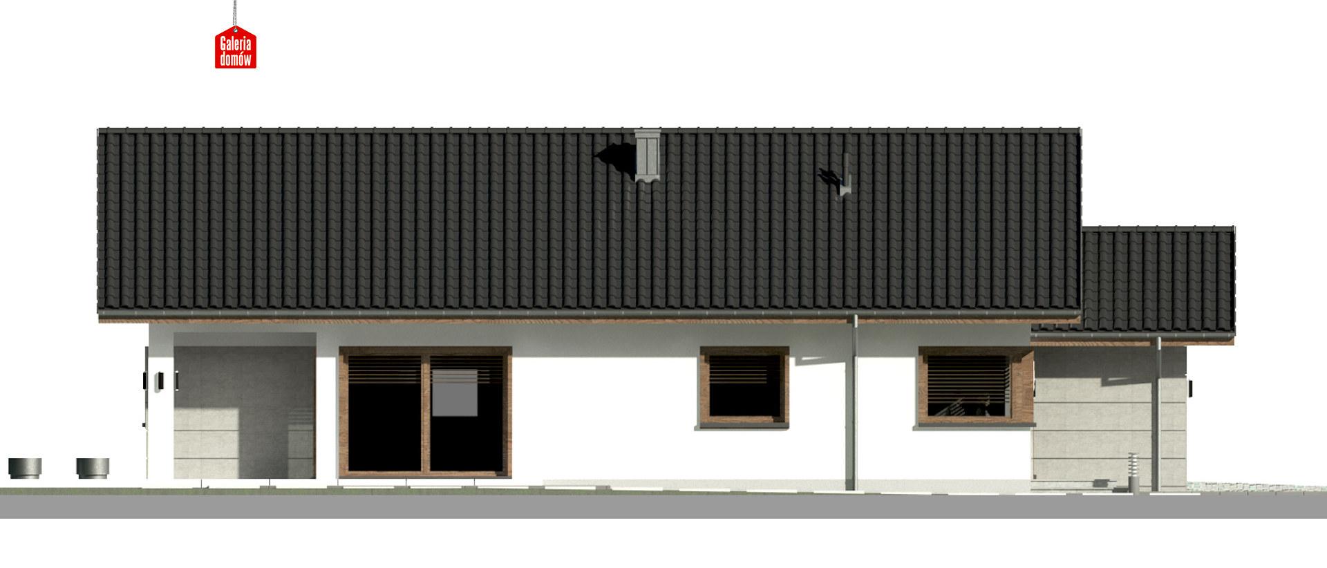 Dom przy Pastelowej 15 D bis - elewacja lewa